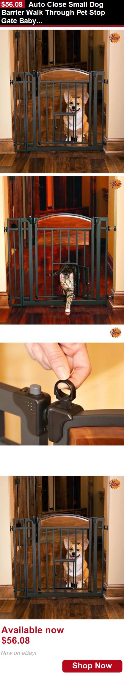 Baby Safety Gates: Auto Close Small Dog Barrier Walk Through Pet Stop Gate Baby Toddler Safety Door BUY IT NOW ONLY: $56.08