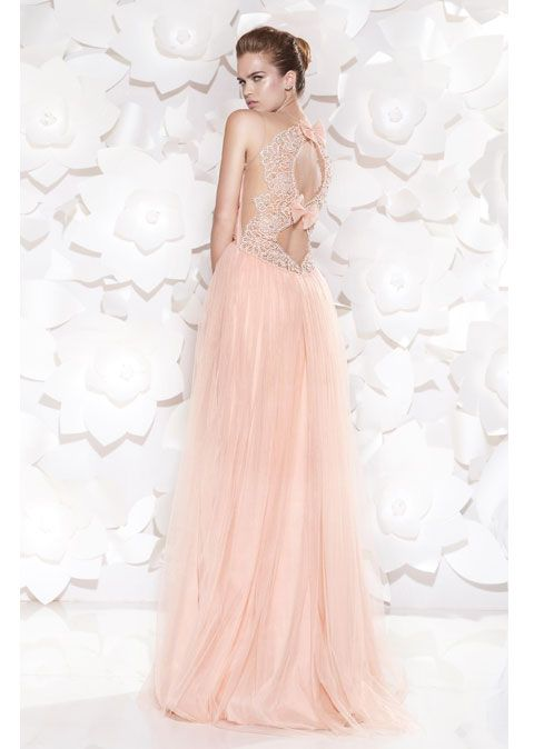 Tarik Ediz вечерние платья 2015 нежно розового цвета