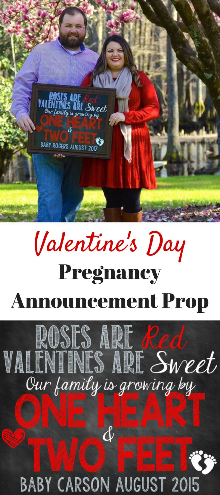 I love the idea of this Valentine's Day pregnancy announcement prop! #ad #valentinesday #valentine #pregnancy #pregnancyannouncement #PhotoProps #photoprop #props