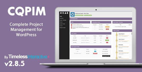 CodeCanyon - CQPIM WordPress Project Management Plugin Free Download