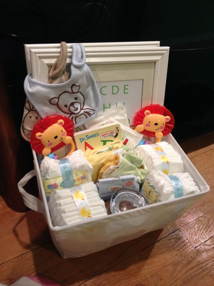 Baby shower gift basket for twin boys Baby Shower Gifts