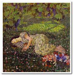 Αποτέλεσμα εικόνας για felice casorati dreaming of pomegranates