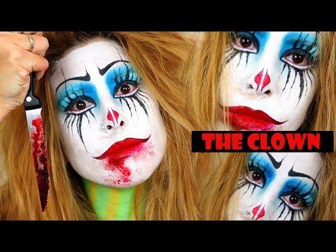 "Maquillaje para Halloween ""El Payaso"" | Make up for Halloween ""The Clown"" | Agui Blackline - YouTube"