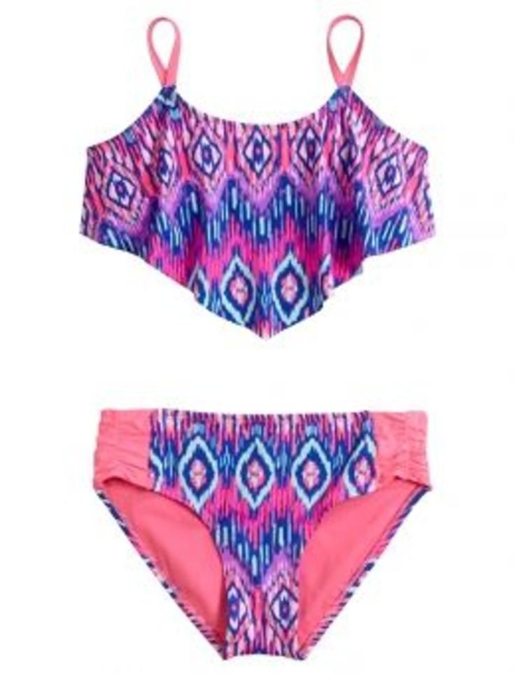 Tribal Flounce Bikini Swimsuit | Girls Bikinis Clearance Swimsuits | Shop Justice