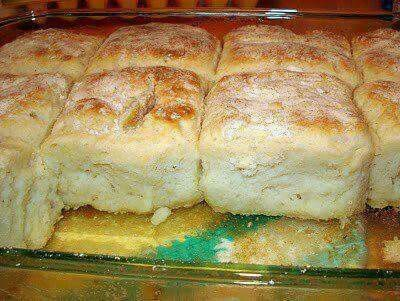 ~~ 7 UP BISCUITS ~~  INGREDIENTS: 4 cups Bisquick 1 cup sour cream 1 cup 7-up 1/2 cup melted butter  DIRECTIONS: Mix Bisquick, sour cream and 7 up. Dough will be very soft - don't worry. Knead and fold dough until well mixed. Pat dough out and cut biscuits using a round biscuit / cookie cutter. Melt butter in bottom of cookie sheet pan or 9x13 casserole dish. Place biscuits on top of melted butter and bake @ 425 degrees for 12-15 minutes or until brown.
