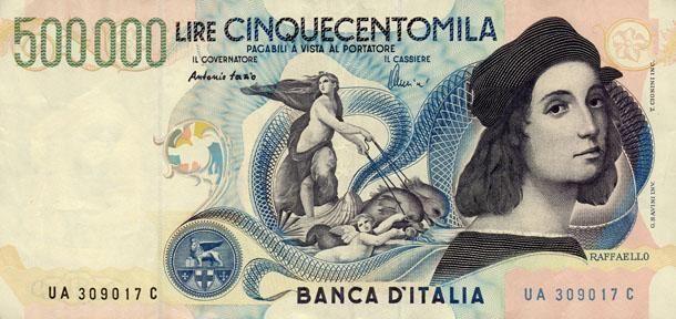 <p>500mila lire. Questa banconota è molto ambita tra i collezionisti. Prima di tutto perché non sono molti coloro che hanno deciso di non cambiarla in euro. </p>