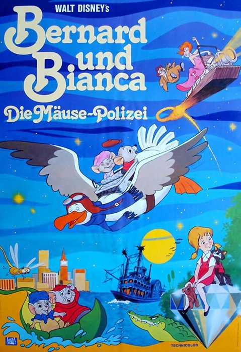 The Rescuers (1977) German poster