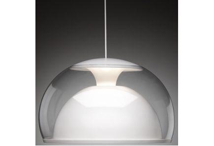 Ei merkkiä - Keraplast Interior Siluette -riippuvalaisin, 46 cm valkoinen
