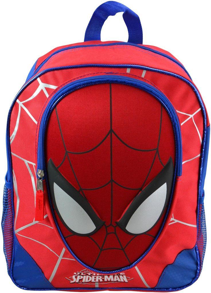 """Wholesale Backpacks Spiderman 16"""" Backpacks w/ Molded Faces - 48 Units"""