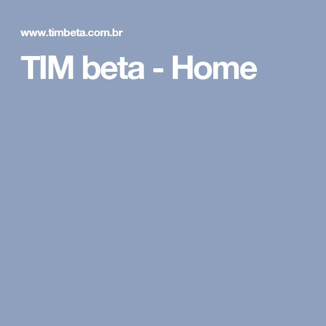 TIM beta - Home