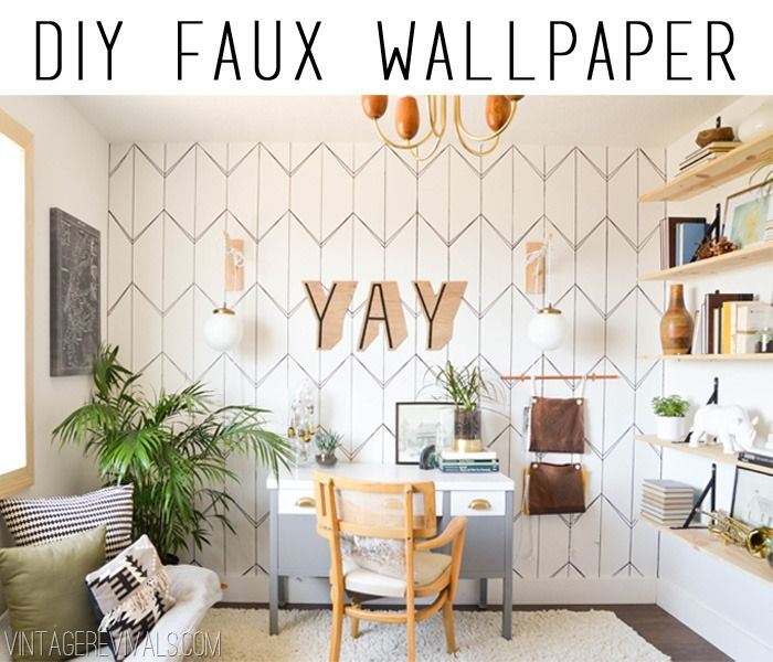 DIY geometric wallpaper with a Sharpie marker pen