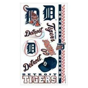 detroit tiger face stickers | Detroit Tigers MLB Temporary Tattoos (10 Tattoos) Sports & Outdoors