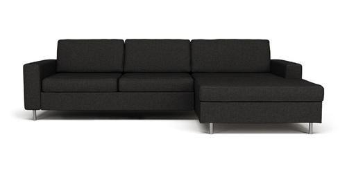 Scandinavia 2 pers. sofa m. Sjeselong høyre
