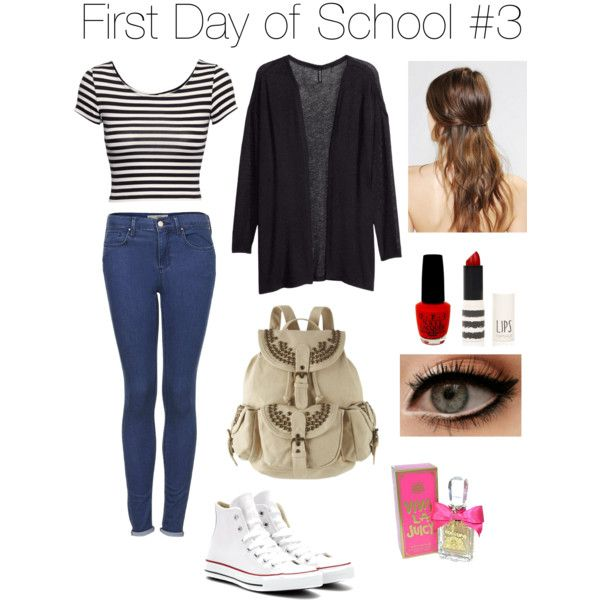 First Day of School outfit ideas by rach31c on Polyvore. I love how the stripes