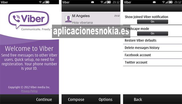 Viber para Nokia N8 / C7 / 500 / 5800 / N97 http://www.aplicacionesnokia.es/viber-para-nokia-n8-c7-500-5800-n97/Tambiã N Para, Nokia 5800, Viber Para, Nokia News, Nokia N8, Para Nokia, Nuestro Nokia, For Our