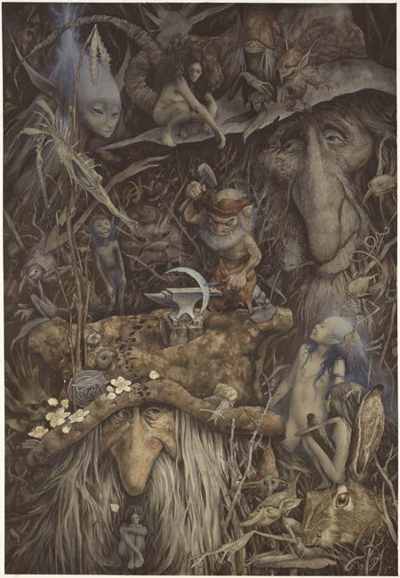 leurdechair: Weyland the Smithy by Brian Froud (via faerypotter)...Weyland is my maiden name!!