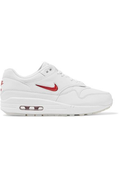 NIKE Air Max 1 Jewel Leather Sneakers. #nike #shoes #sneakers