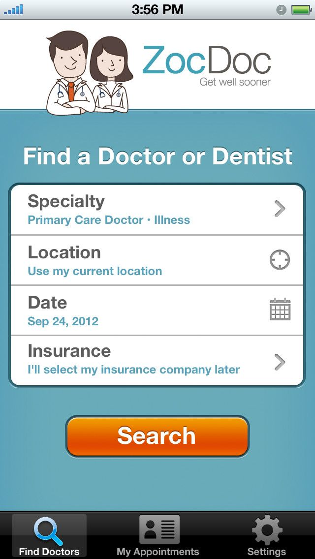 ZocDoc - Doctor Appointments Online! (ios)   AppCrawlr