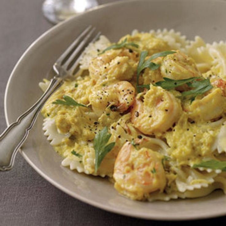 Creamy Saffron Farfalle with Crab and Shrimp - Rachael Ray Every Day