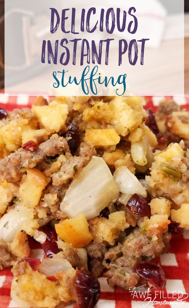 Nothing says Thanksgiving or a holiday meal like the taste of Stuffing! This recipe is my own family recipe with a twist for the instant pot! It is so good!