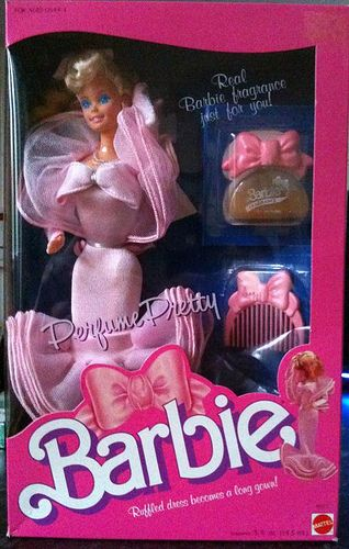Perfume Pretty Barbie. Probably my favorite Barbie when I was little. I can still remember what it smelled like!