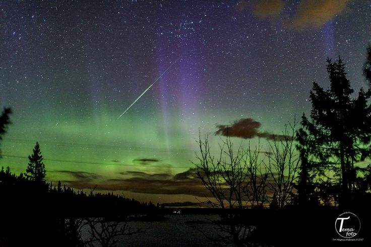 https://flic.kr/p/U5UY6u | TemaFoto - Nordlys på Knuten-3 | Aurora and shoting star in Kongsberg, southern Norway tonight.