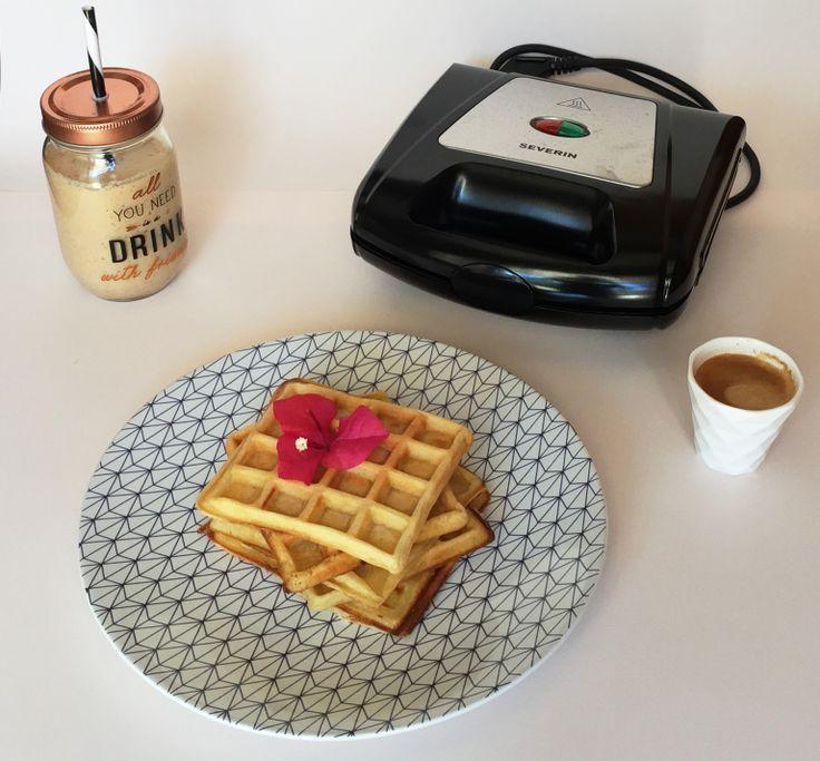 Julie du blog soodeco.fr a eu l'occasion de tester notre appareil à gaufre, croque-monsieur et panini --> ow.ly/2VEi306Ts22