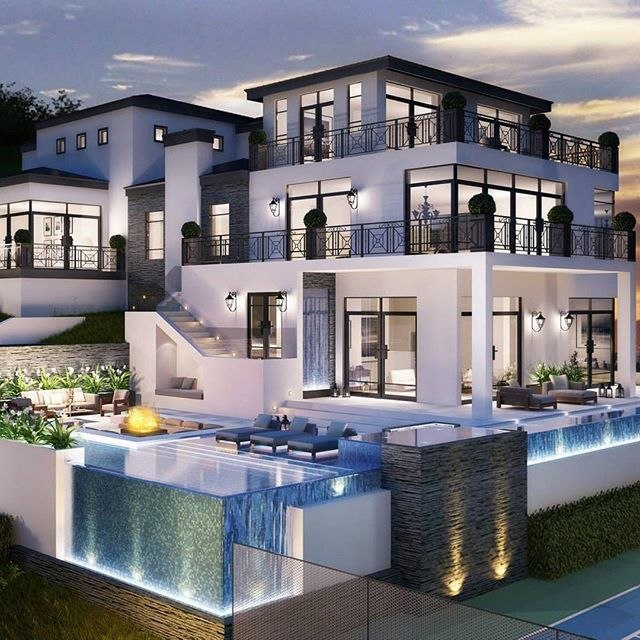 Best 25 modern mansion ideas on pinterest luxury modern for Big houses inside