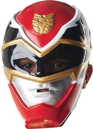 Máscara de Power Rangers™ niño: Esta máscara de Power Rangers ™cuenta con licencia oficial. Es de color rojo en plástico rígido.Se ajusta al rostro con un elástico de color negro que se sujeta con...