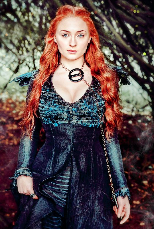 "stormbornvalkyrie: ♕ Sophie Turner as Sansa Stark ""This is the season I'm most excited for,"" says Turner. ""Sansa's coming into her own and standing up for herself."" x"