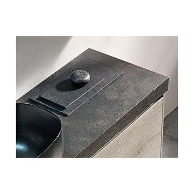 Bagno-Top per lavabo d'appoggio Plan cesar brown marrone scuro 6 x 120 x 51 cm-33892432