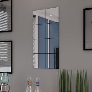 8-Stueck-Quadratischer-Spiegel-Fliesen-Wand-Sticker-Aufkleber-Mosaik-Dekor-DIY