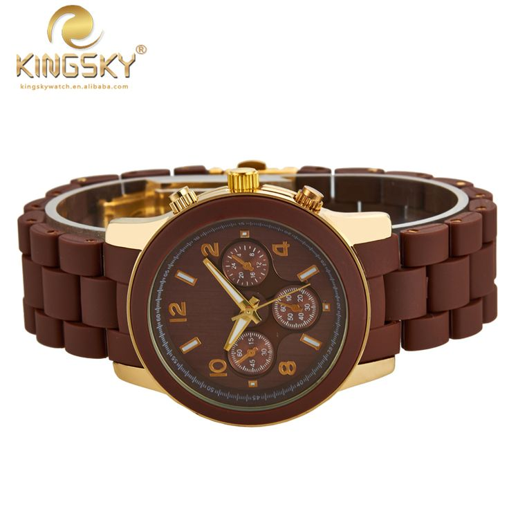New Arrival Fashion Watches Men Women Brand KINGSKY Quartz Ladies Watch Coffee Plastic Strap 010014#-in Women's Watches from Watches on Aliexpress.com | Alibaba Group