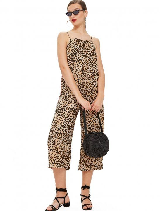 4790960ff07b Check out leopard print jumpsuit from Topshop. Channel an exotic look with  our stylish square