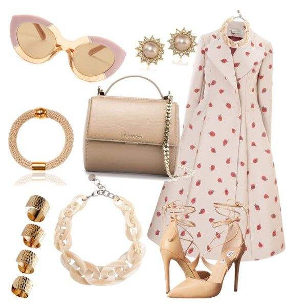 A fashion look from September 2015 featuring Vika Gazinskaya coats, Steve Madden pumps and Givenchy shoulder bags. Browse and shop related looks.