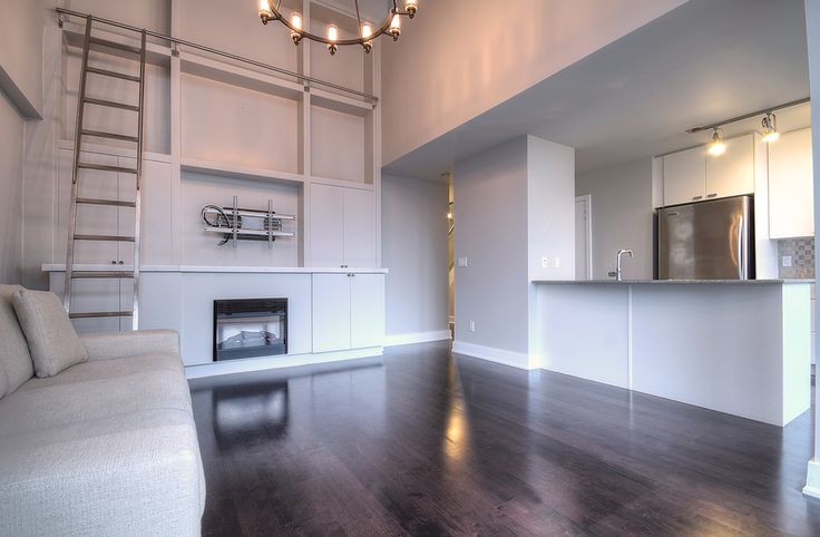 Tip Top Lofts - Unit #825 | Toronto LOFTS | Almost 1000 sf 1 bedroom, 2 level, 2 bath + 1 parking for rent in Bathurst Quay. Fab 2 story high window wall & large private terrace w/gas bbq line. | Book a Visit: http://torontolofts.ca/tip-top-lofts-lofts-for-rent/637-lake-shore-blvd-825 | Contact: info@torontolofts.ca | torontolofts.ca