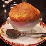 カフェ ロシア - 料理写真:Aランチ 壺焼き きのこ入りクリームシチュー