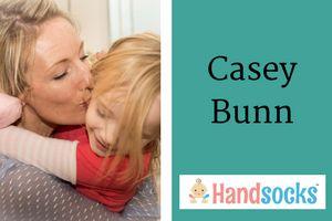 Casey Bunn Mom Inventor Handsocks