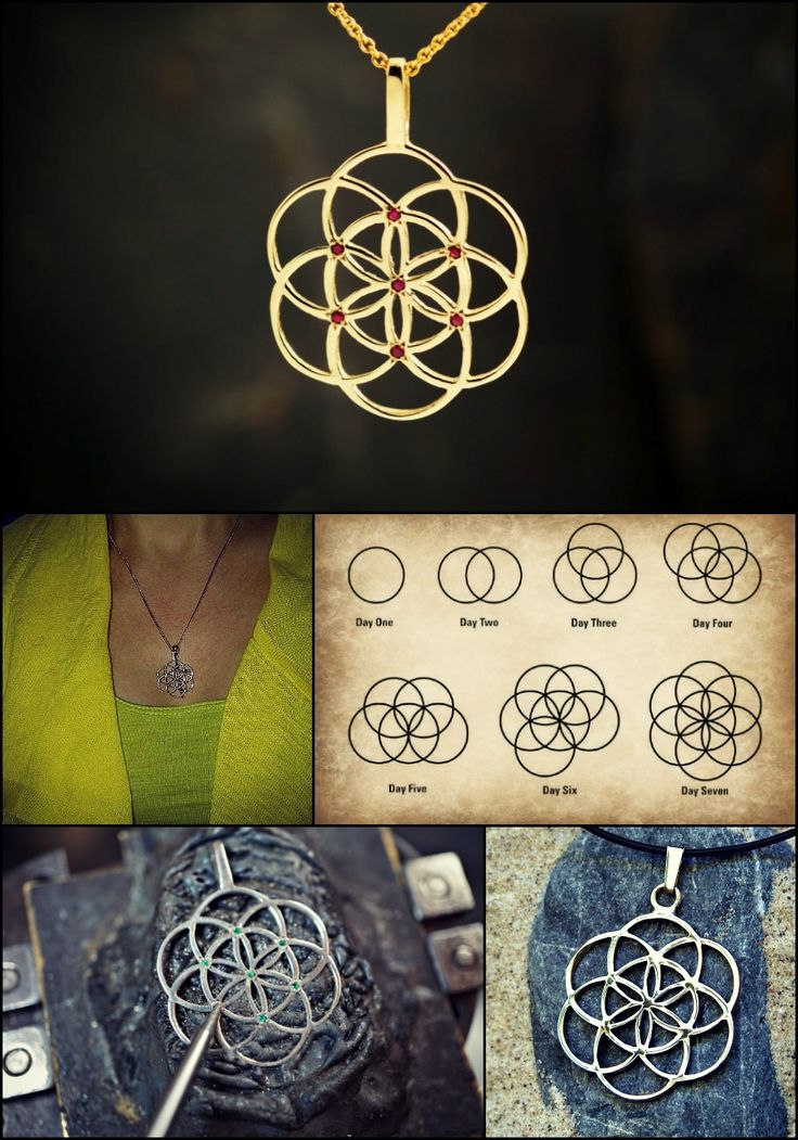A symbol of blessing, fertility and protection  Seed of life is worn as a symbol of protection for pregnant women. It helps to create new ideas and to open new pathways in life.  The seed of life is a symbol for the 7 days of creation. It addresses the creative process of the Flower of Life - a geometric shape that symbolizes the entire universe.