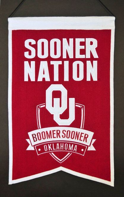 Oklahoma Sooners Wool Nations Banner Z157-7408830005