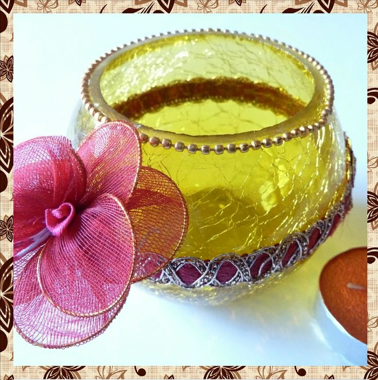 Decorative Yellow Glass Bowl