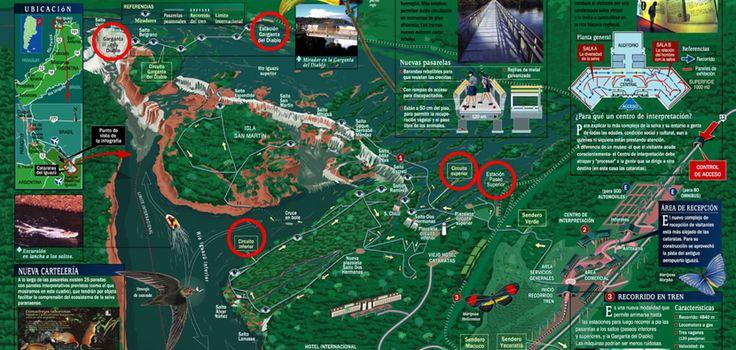 Mapa turístico de las cataratas Iguazu