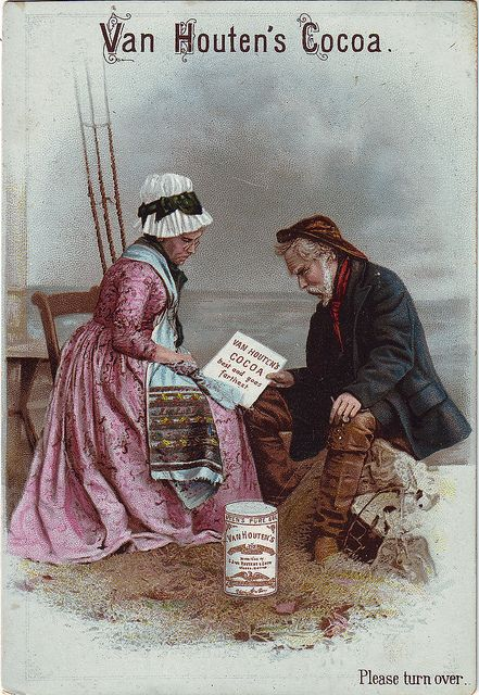 ♥CACAO VAN HOUTEN - OLD FISHER COUPLE AND VAN HOUTENS COCOA
