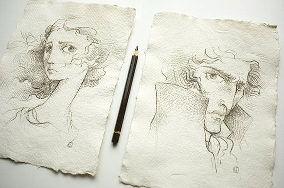 Wuthering Heights Heathcliff Drawing Reserved for olivia - promotion ...
