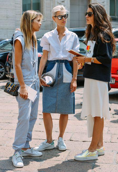 Sneakers with skirts - Keep It Chic - Runaround Chic Style  Fashion Blog - Preston Davis