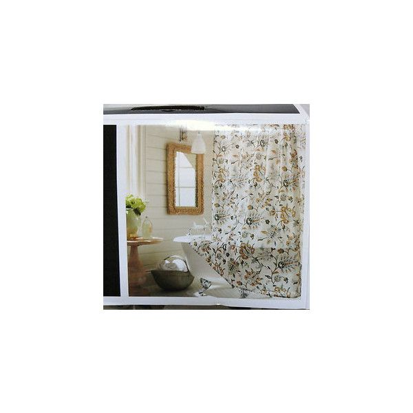 "New Target Home Tan Jacobean Shower Curtain 72x72"" Ivory/Gray/Gold/Black found on Polyvore featuring polyvore, home, bed & bath, bath, shower curtains, black shower curtains, gold shower curtains, grey shower curtains, gray shower curtains and beige shower curtains"