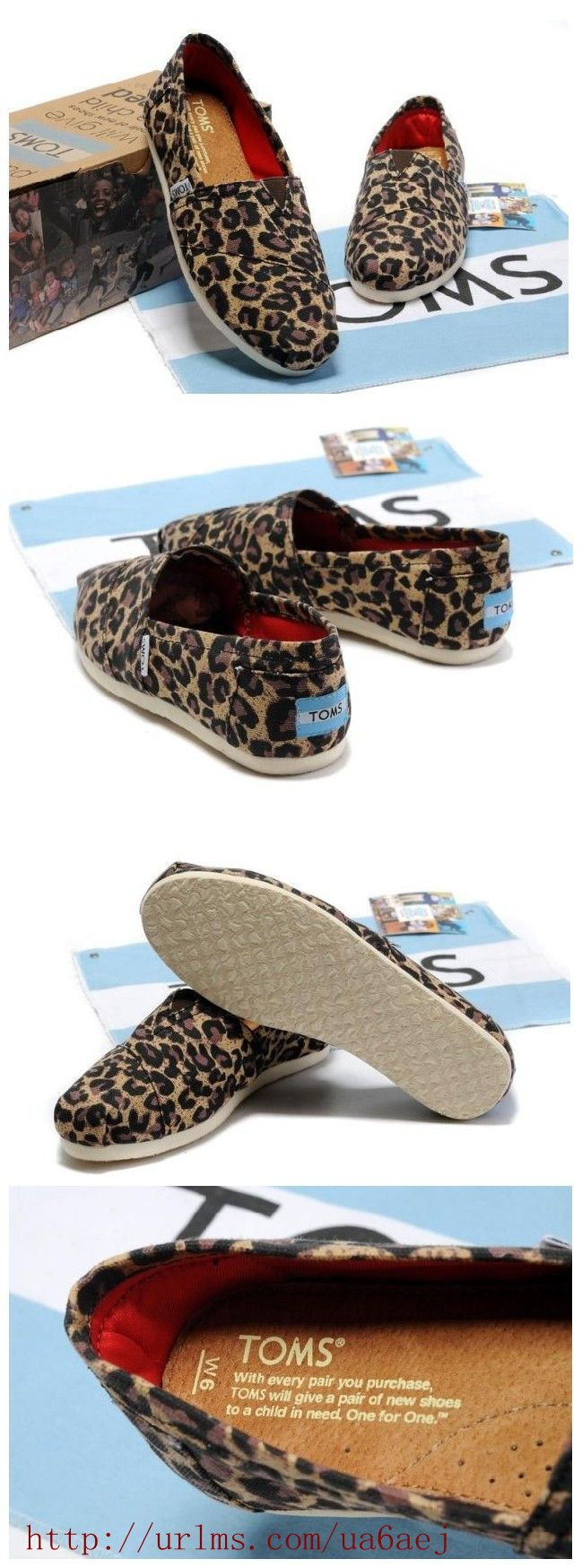 #TOMS Leopard Fleece Slip-On Shoes For Women - Gifts for #Xmas - $25