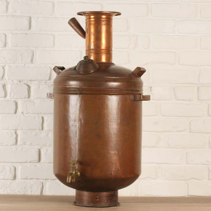 Solid copper hot water maker or samovar from southern