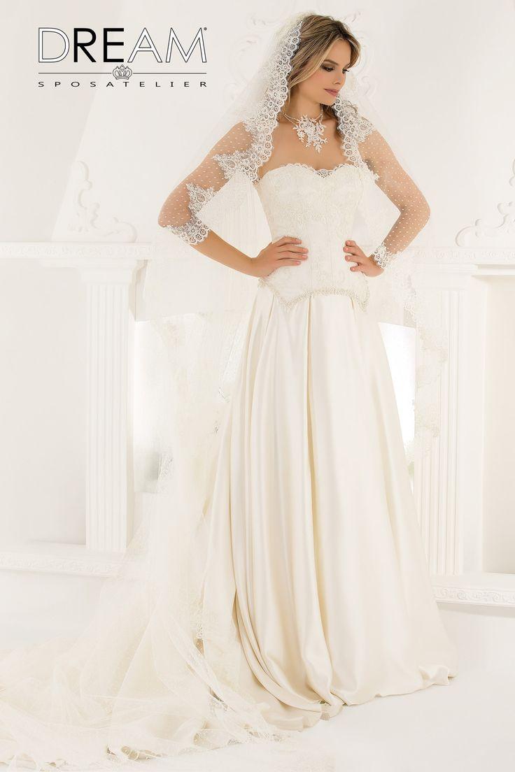 "DREAM SPOSA ATELIER Abito da sposa in Satin ""Mod. AURORA "" Bridal dress in Satin ""Mod. AURORA"" #dreamsposa #dreamsposaatelier #abitidasposaroma #abitidasposa #bridaldresses #wedding #bridaldesign #hautecouture #fashion #moda #altamoda #abitidasposaesclusivi #modasposa #nonsolomoda #catwalk #paris #london #milano #newyork #vestitidasposa #vestitidasposaroma"