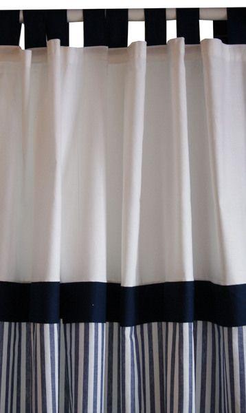 Gardine dunkelblau gestreift von Wildwechsel auf DaWanda.com